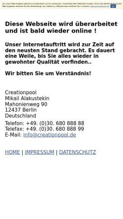 Vorschau der mobilen Webseite www.creationpool.de, Creationpool, Mikail Alakustekin