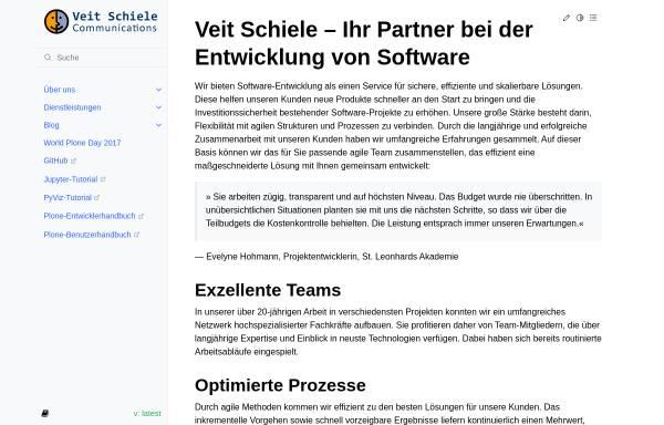 Vorschau von www.veit-schiele.de, Kommunikationsdesign, Veit Schiele