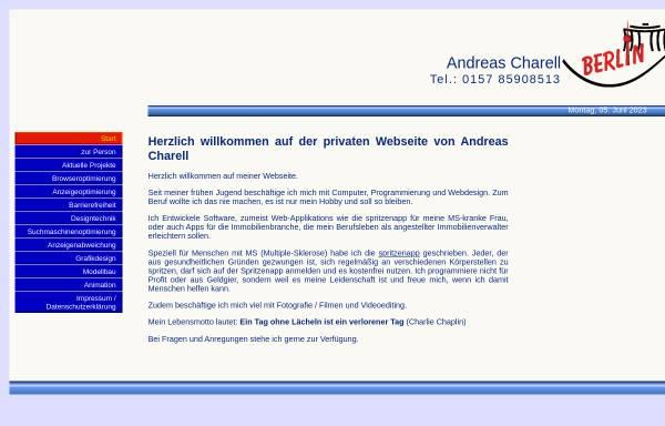 Vorschau von www.andreascharell.de, Webdesign und Software Solutions, Andreas Charell