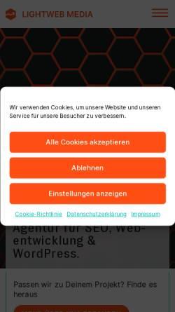Vorschau der mobilen Webseite www.pixo-webdesign.de, Pixo Webdesign, Björn Papenhagen
