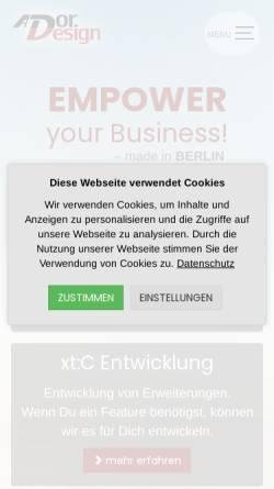Vorschau der mobilen Webseite www.ador-design.de, Ador-Design, Fabian Bzdak