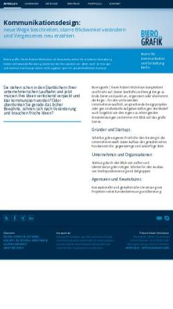 Vorschau der mobilen Webseite www.buerografik.de, Bürografik, Kevin Robert Michelson