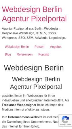 Vorschau der mobilen Webseite www.pixelportal.de, Pixelportal, Michael Freudenberg