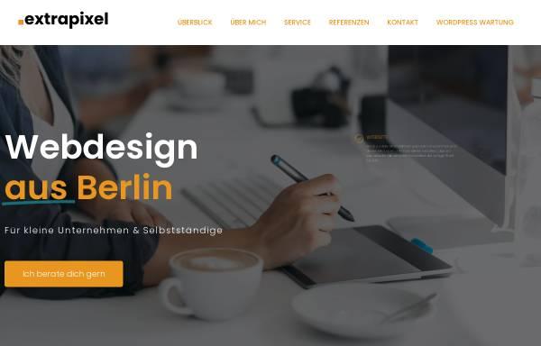 Vorschau von www.extrapixel.de, Extrapixel Web- und Grafikdesign, Manuela Schmidutz