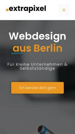 Vorschau der mobilen Webseite www.extrapixel.de, Extrapixel Web- und Grafikdesign, Manuela Schmidutz