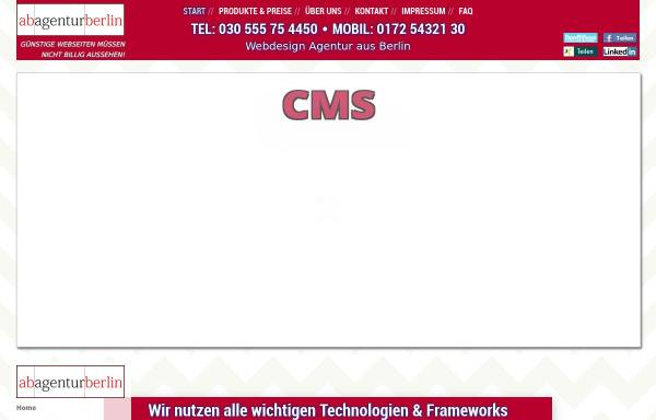 Vorschau von www.ab-agentur-berlin.de, AB Agentur, Georgi Faigle
