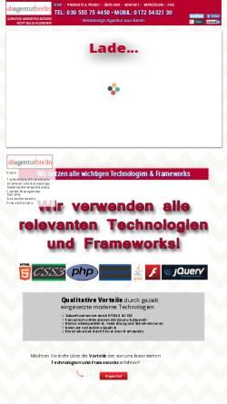 Vorschau der mobilen Webseite www.ab-agentur-berlin.de, AB Agentur, Georgi Faigle