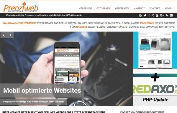 Vorschau von www.prenzlweb.de, Rs Webregie, Ralf Schlott
