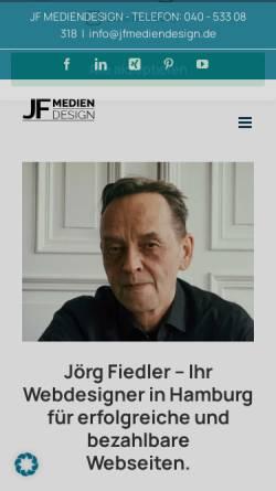 Vorschau der mobilen Webseite jfmediendesign.de, JF Mediendesign, Jörg Fiedler