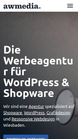 Vorschau der mobilen Webseite www.a-w-media.de, A-W Media Webdesign, Torben Korb