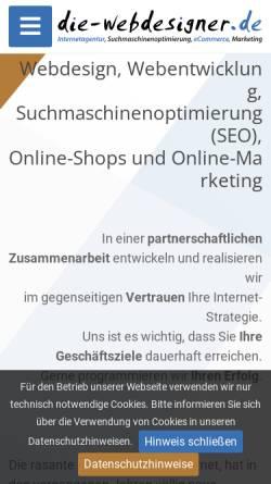 Vorschau der mobilen Webseite www.die-webdesigner.de, Die-Webdesigner