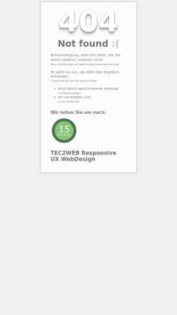Vorschau der mobilen Webseite www.tec2web.de, Tec2Web, Carl Koch