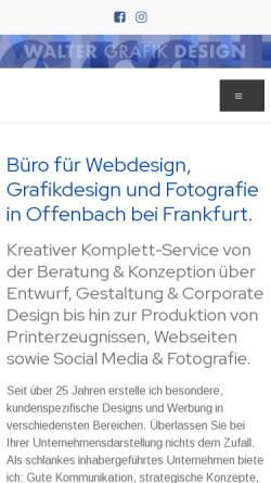Vorschau der mobilen Webseite www.waltergrafik.de, Walter Grafikdesign, Peter Walter