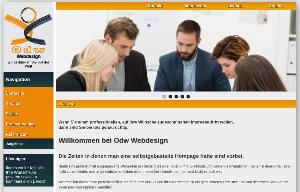 Vorschau von www.odw-webdesign.de, Odw Webdesign Marc Colin und Jürgen Maul