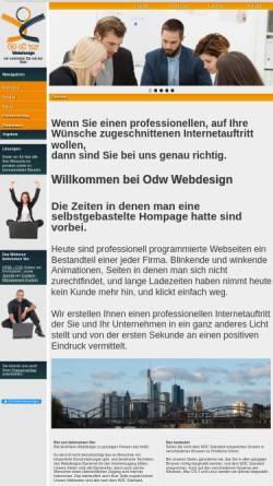 Vorschau der mobilen Webseite www.odw-webdesign.de, Odw Webdesign Marc Colin und Jürgen Maul