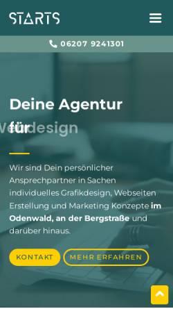 Vorschau der mobilen Webseite www.starts-webdesign.de, Starts Webdesign, Sebastian Theobald