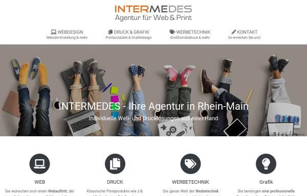 Vorschau von webdesign-intermedes.de, Intermedes, Manuela Brukner