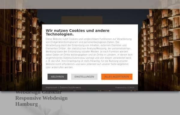 Vorschau von www.webdesign-glasklar.de, Webdesign Glasklar Hamburg