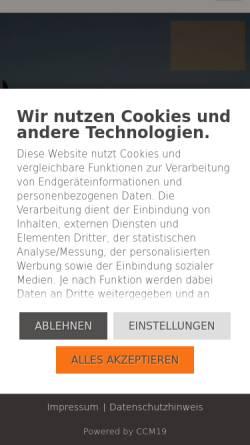 Vorschau der mobilen Webseite www.webdesign-glasklar.de, Webdesign Glasklar Hamburg