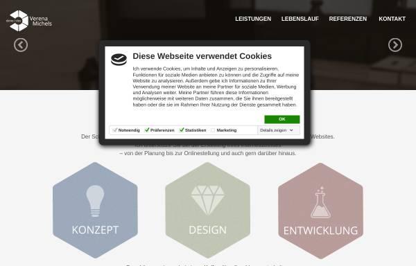 Vorschau von www.verena-michels.de, Freelancer Webdesign, Verena Michels
