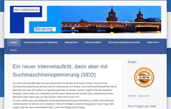 Vorschau von www.seo-webdesign.info, SEO Webdesign, Hans d'Heureuse