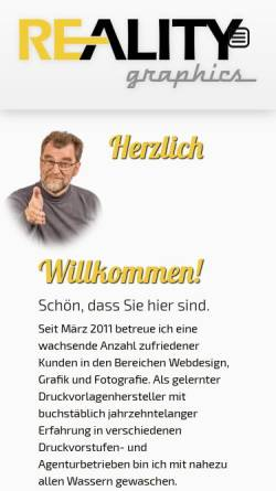 Vorschau der mobilen Webseite www.re-ality.de, Re-Ality, Holger Pleus