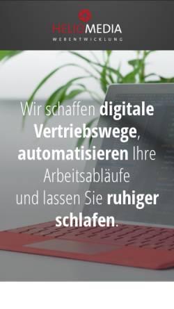 Vorschau der mobilen Webseite www.heliomedia.de, Heliomedia, Florian Michel