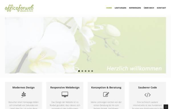 Vorschau von www.officeforweb.de, Officeforweb, Peggy Glowatsch
