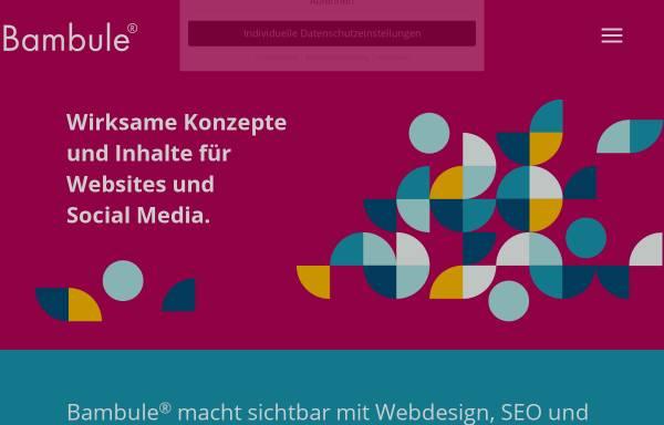 Vorschau von bambule.de, Bambule Webdesign, Michael Stein