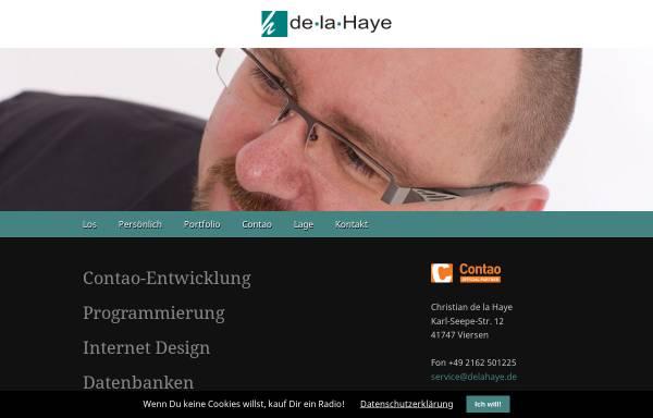 Vorschau von www.delahaye.de, De la Haye Kommunikationsdesign, Christian de la Haye