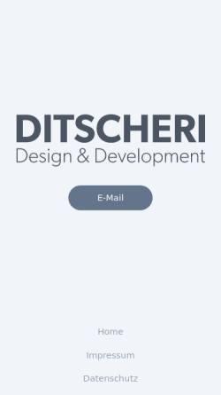 Vorschau der mobilen Webseite www.ditscheri.com, Ditscheri Design, Daniel Bakan