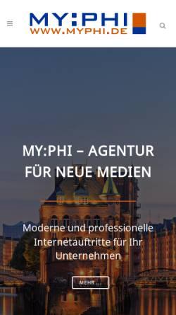 Vorschau der mobilen Webseite www.myphi.de, My:phi, Markus Fraikin