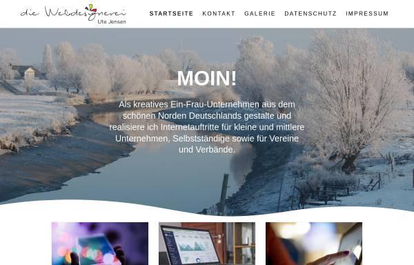 Vorschau von www.die-webdesignerei.de, Die Webdesignerei, Ute Jensen