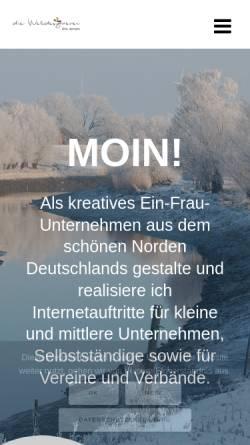 Vorschau der mobilen Webseite www.die-webdesignerei.de, Die Webdesignerei, Ute Jensen