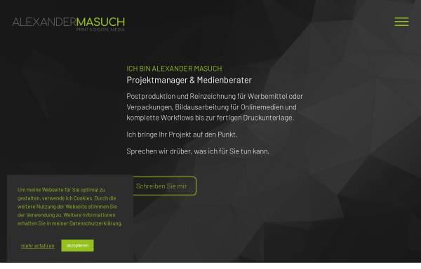 Vorschau von www.alexandermasuch.de, Kreative Ideen für Web & Print, Alexander Masuch