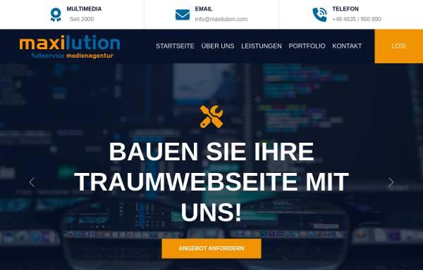 Vorschau von www.maxilution.com, Maxilution, Daniel Timm