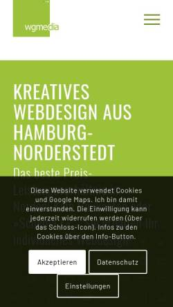 Vorschau der mobilen Webseite www.wgmedia.de, Wgmedia e.K. Internetlösungen, Fabian Wachtel