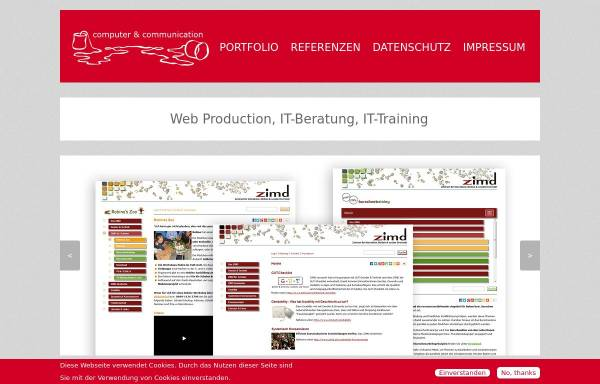 Vorschau von www.com-and-com.com, Computer & Communication, Claudia Behr