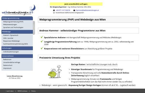 Vorschau von webanwendungen.at, Andreas Hammer