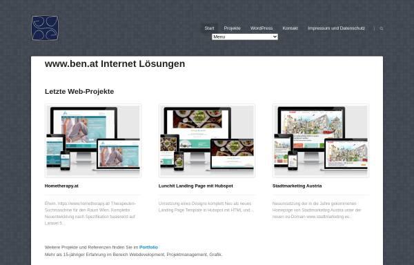 Vorschau von www.ben.at, Ben.at, Benedikt Dell´mour