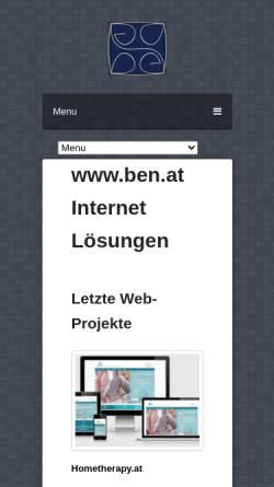Vorschau der mobilen Webseite www.ben.at, Ben.at, Benedikt Dell´mour