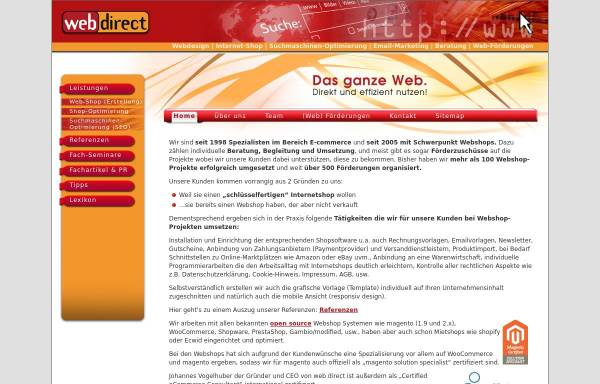 Vorschau von www.web-direct.at, Web Direct, Johannes Vogelhuber