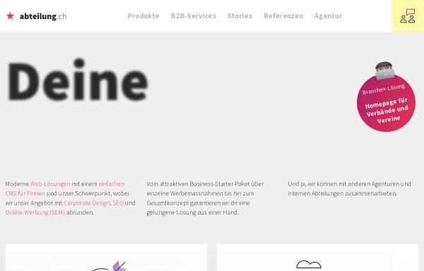 Vorschau von www.abteilung.ch, Abteilung für Gestaltung, Pascal Widmer
