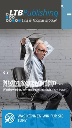 Vorschau der mobilen Webseite www.ltb-publishing.de, Ltb Publishing, Lina und Thomas Bröckel