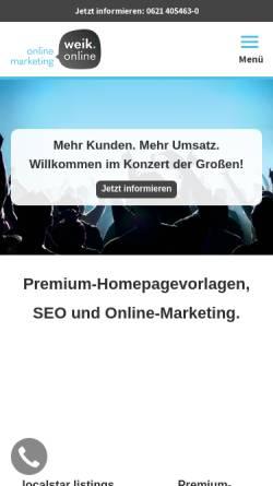 Vorschau der mobilen Webseite weik.online, Rene Weik