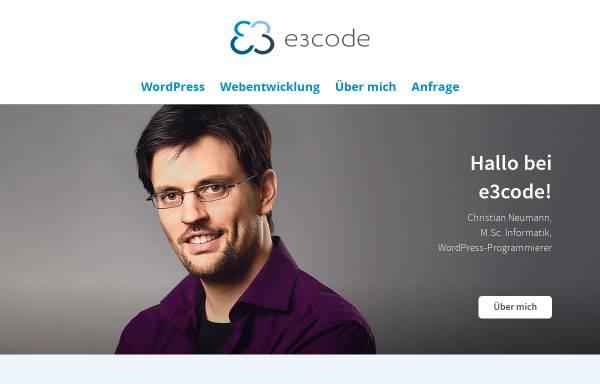 Vorschau von www.e3code.de, E3Code, Christian Neumann