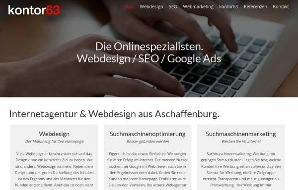 Vorschau von kontor63.de, kontor63 Internetagentur