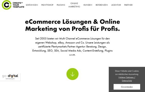 Vorschau von www.createyourtemplate.com, Create your Template