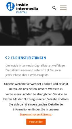 Vorschau der mobilen Webseite inside-intermedia.de, Inside Intermedia Systems