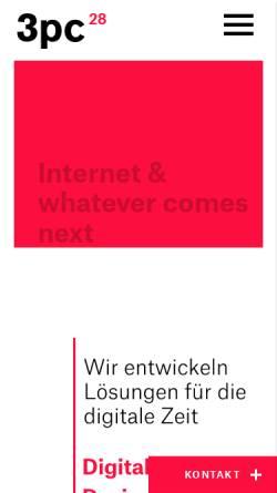 Vorschau der mobilen Webseite 3pc.de, 3pc Neue Kommunikation